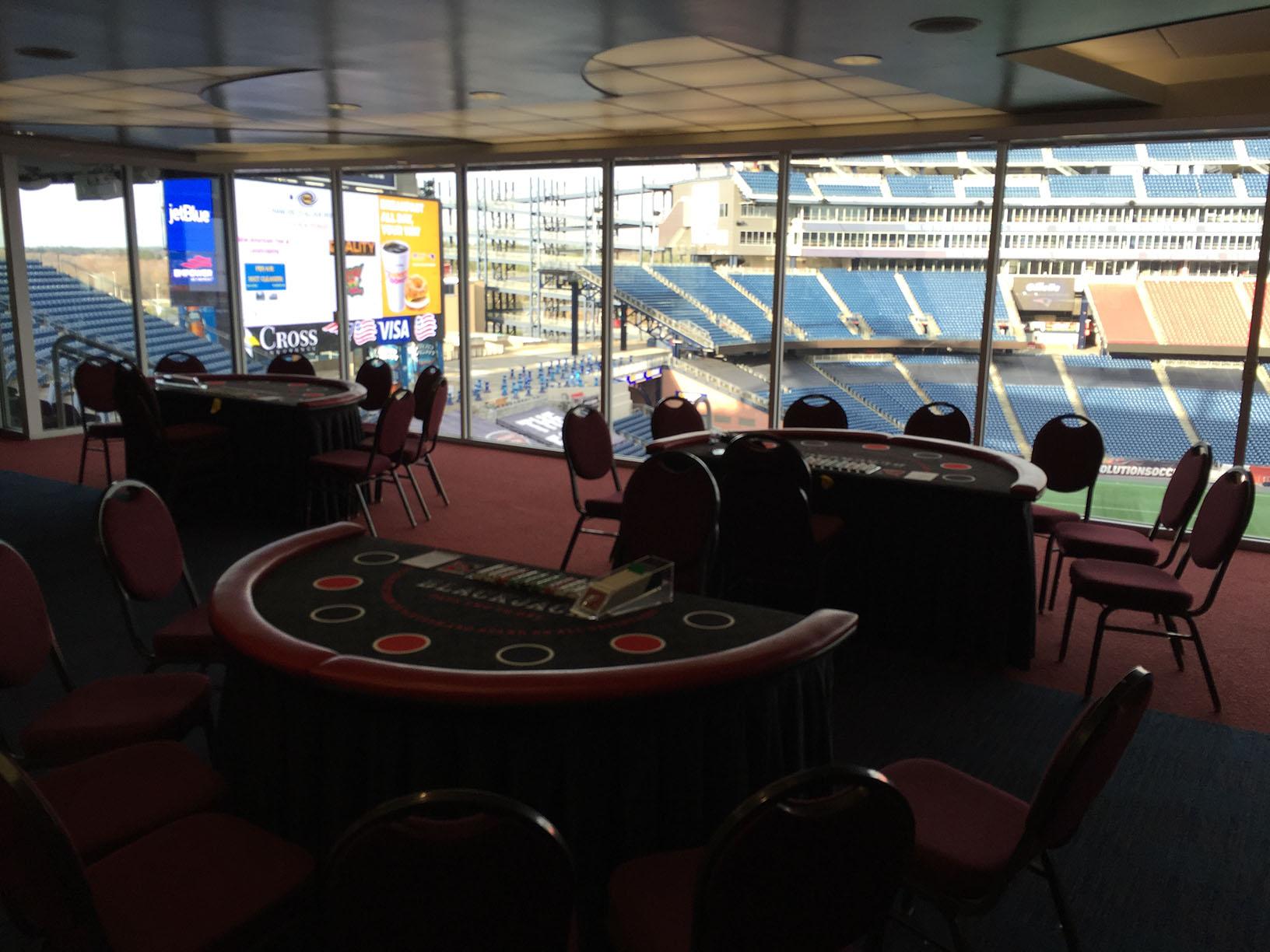 Gillette stadium casino night